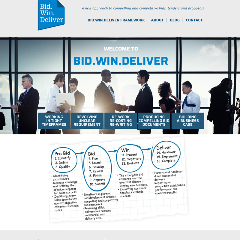 bid win deliver website