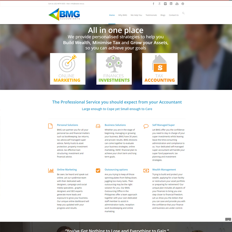 bmg accountants website