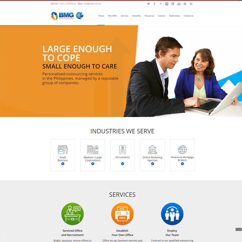 bmg outsourcing website