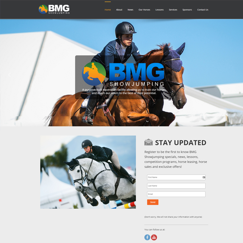 bmg showjumping website