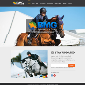 bmg showjumping website portfolio