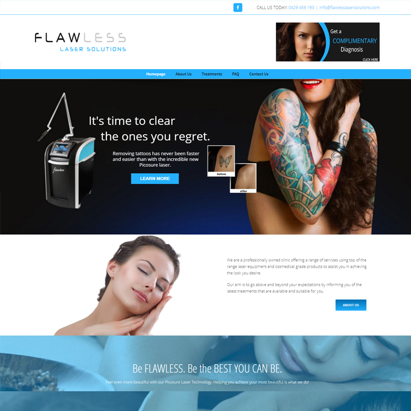 flawless laser solutions website