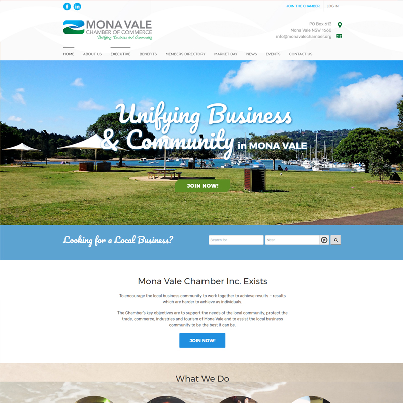 mona vale chamber of commerce website