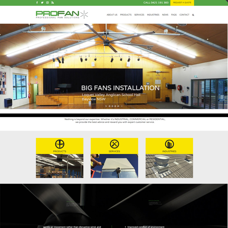 profan solutions website
