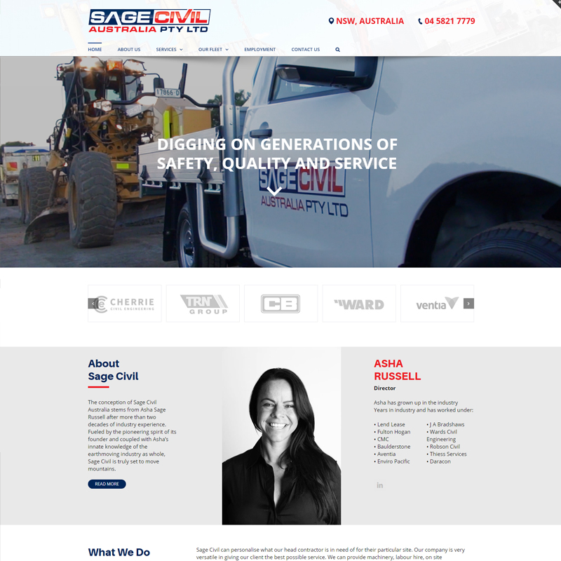 sage civil australia website