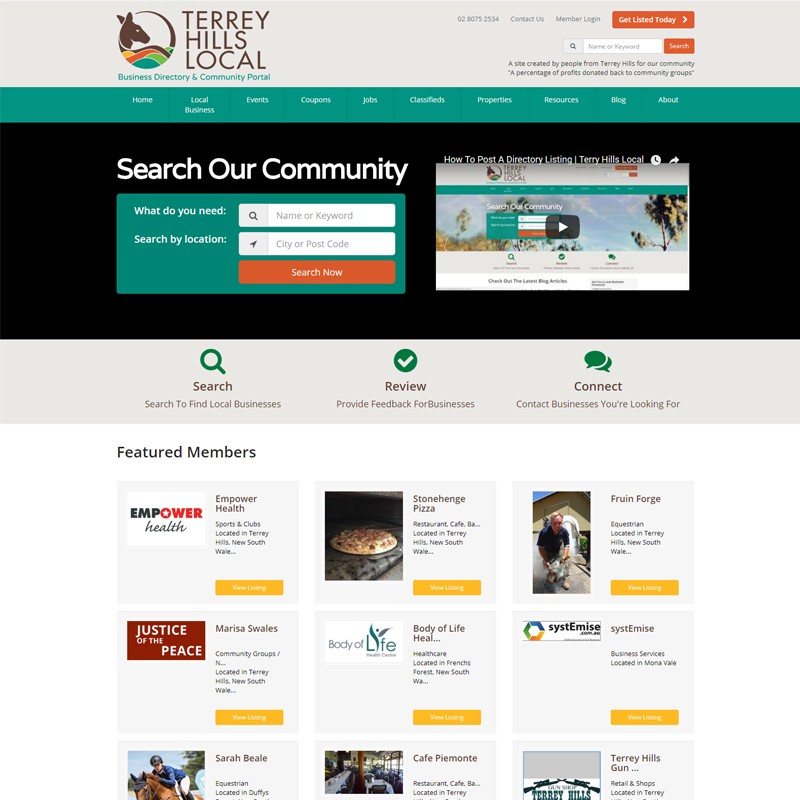 terrey hills local website