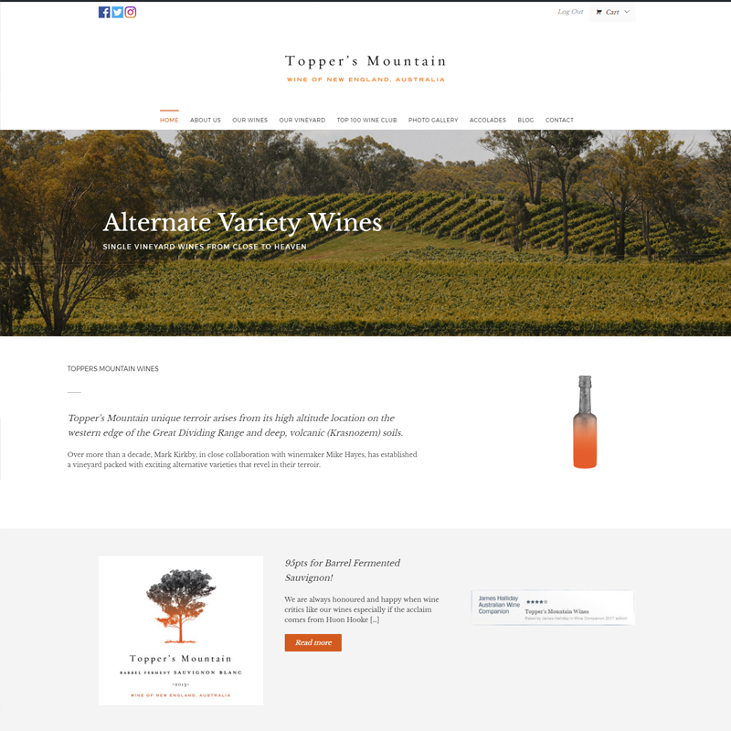 toppers mountain wines website