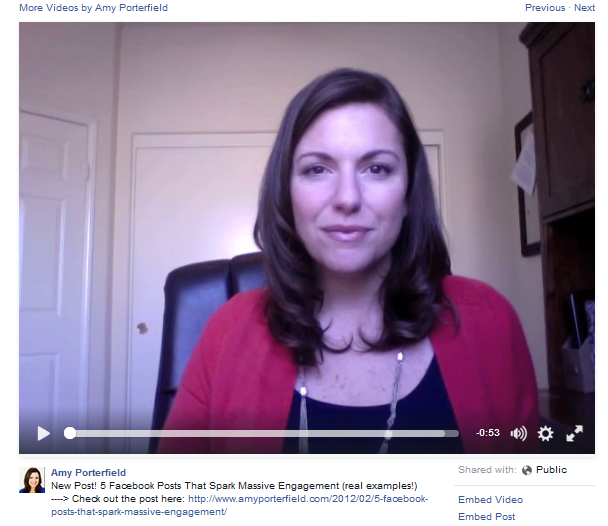 Amy Porterfiled Video