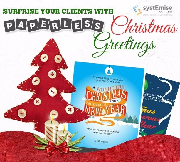 systemise paperless christmas greetings